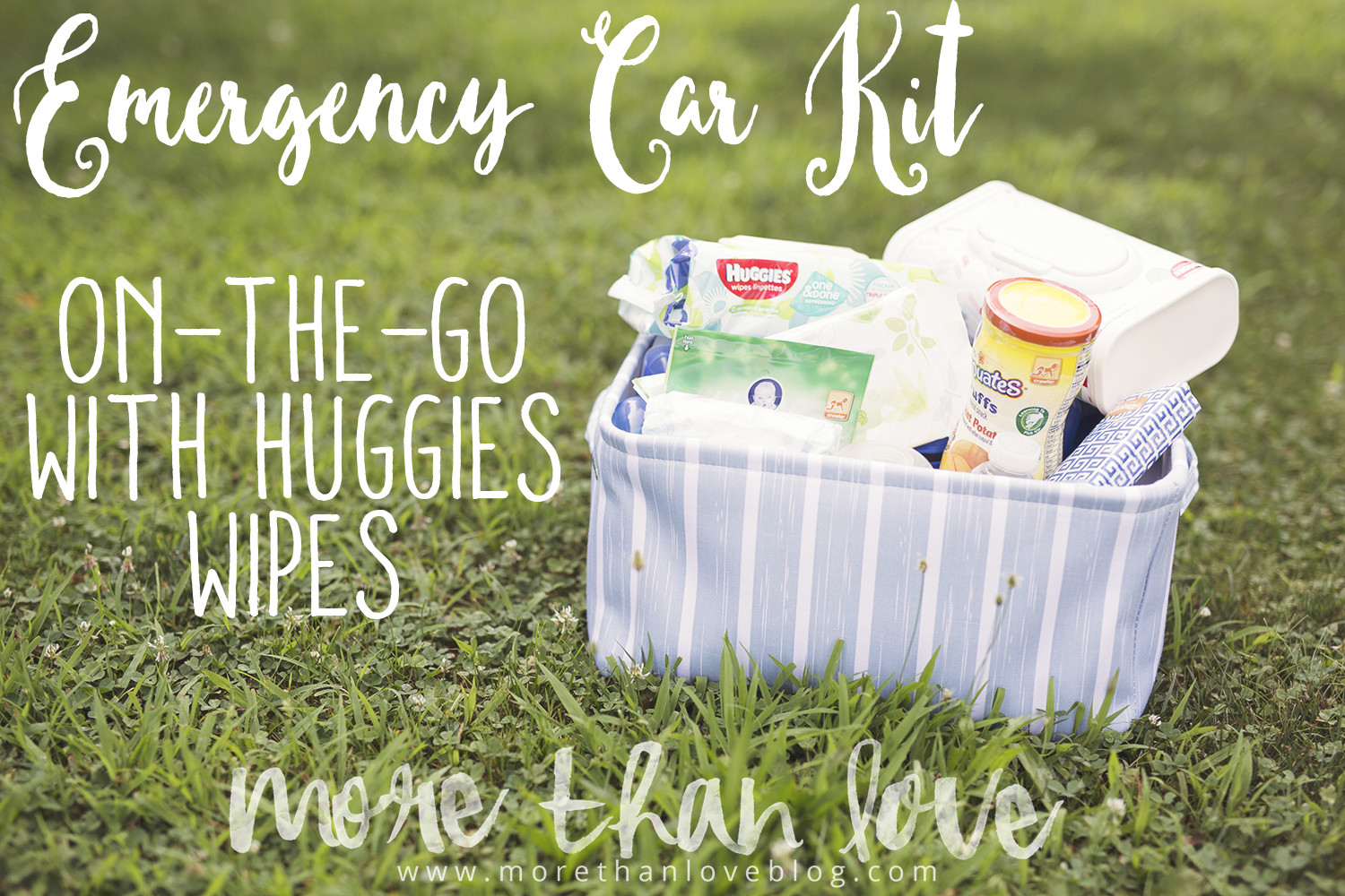 Emergency Car Kit: On-The-Go with Huggies Wipes